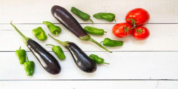 Eggplant and Pepper