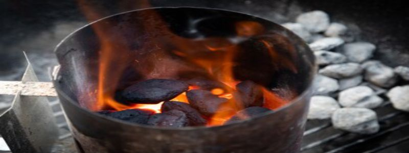 How to light up charcoal in a chimney
