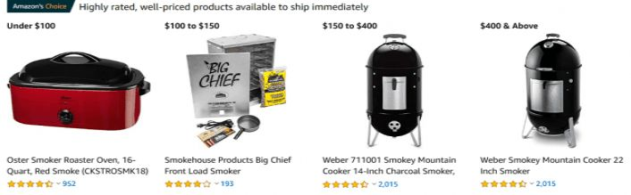 3 Ways to Shop for a Smoker on Amazon