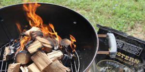 charcoal smoke natural wood